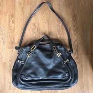 Chloe Gray Paraty Leather Purse Large Bag